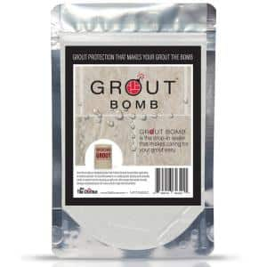 Grout Bomb Drop-In Sealer and Reinforcement for Cementitious Grout