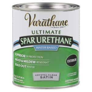 1 qt. Clear Satin Water-Based Outdoor Spar Urethane (2-Pack)