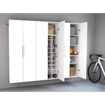 White Garage Storage Systems, White Wood Garage Storage Cabinets