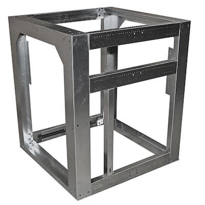 Outdoor Kitchen Framing Island Module 30 in. in Galvanized Steel