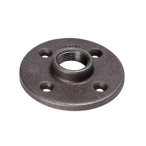 3/4 in. Black Malleable Iron Floor Flange (2-Pack)