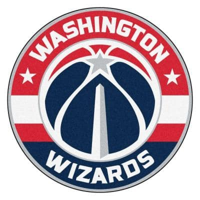 NBA Washington Wizards Red 2 ft. x 2 ft. Round Area Rug