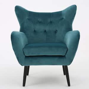Seigfried Dark Teal New Velvet Arm Chair