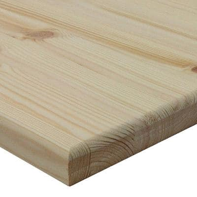 1 in. x 18 in. x 18 in. Allwood Pine Project Panel with Routed Edges on 1 Face