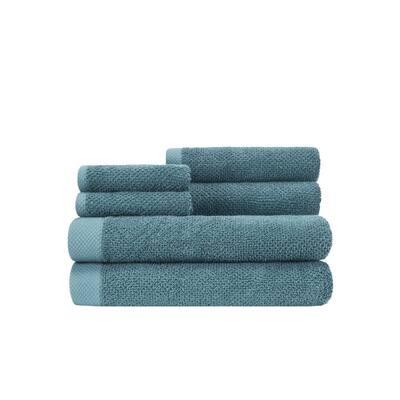 Adele Sunwashed Blue Six Piece Towel Set