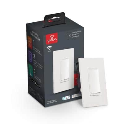 Wi-Fi Smart Dimmer Switch, No Hub Required, Voice Activated, White
