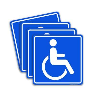 Disable Handicap Person Blue Stickers 6 in. Vinyl Decals