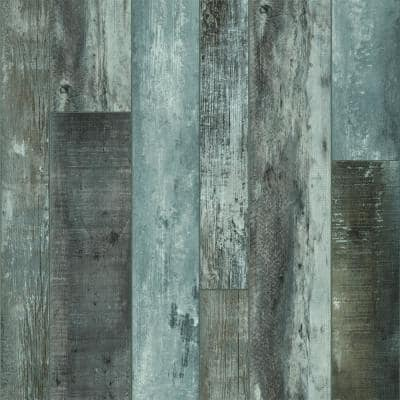 "Rigid Core Empower 4.2"", 5.9"", 7.1"" W x 72"" Baltic Blue Waterproof Click Lock Vinyl Plank Flooring (17.40 sq. ft/carton)"