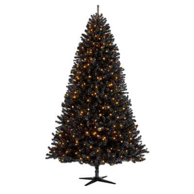 7.5 ft Black Spruce Pre-Lit LED Artificial Christmas Tree with 700 Warm White Micro Fairy Lights