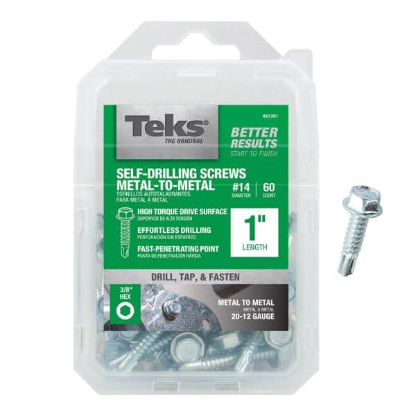 4.8 x 16mm Self drilling Pack of 50 *Top Quality! With washers TEK Screws