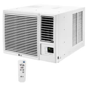 18,000 BTU 230-Volt Window Air Conditioner LW1816HR with Cool, Heat and Remote in White