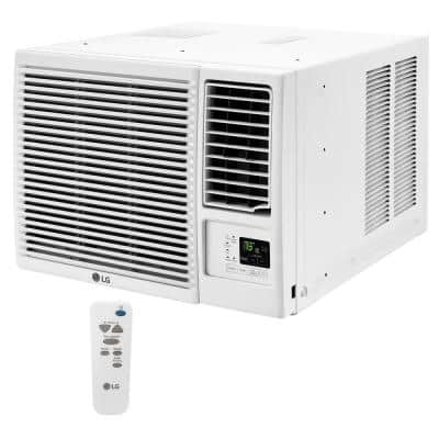 18,000 BTU 230-Volt Window Air Conditioner with Cool, Heat and Remote in White
