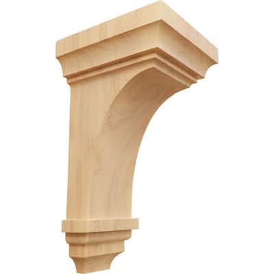7 in. x 14 in. x 7-3/4 in. Red Oak Jumbo Jefferson Wood Corbel
