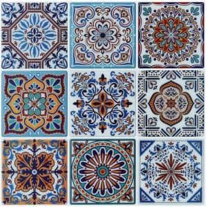 Morocco Blue 11.7 in. x 11.7 in. Vinyl Peel and Stick Tile Backsplash Wall Tile ( 9.5 sq. ft. /pack)