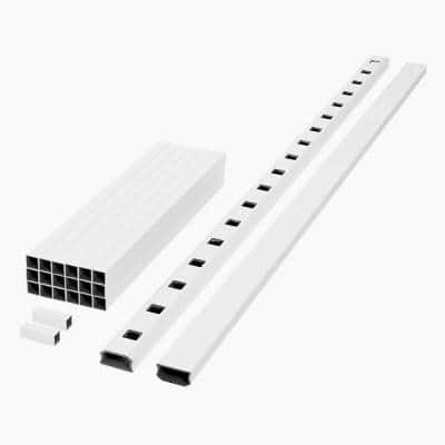 ArmorGuard Regency 94 in. White Composite Rail Kit