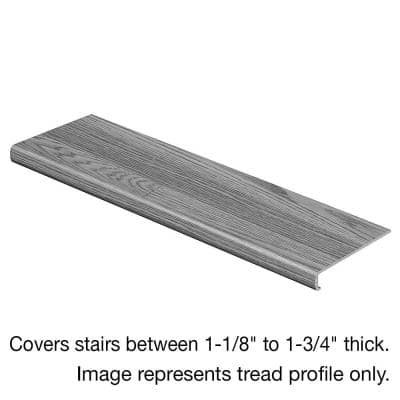 Vintage Pewter Oak 47 in. L x 12-1/8 in. D x 2-3/16 in. H Laminate to Cover Stairs 1-1/8 in. to 1-3/4 in. Thick