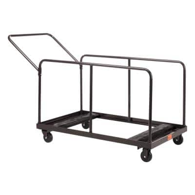 660 lbs. Weight Capacity Folding Table Dolly with Vertical Storage Round and Rectangular Tables