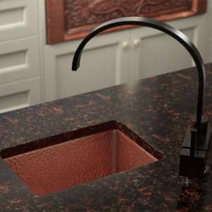 Undermount Copper 16-1/2 in. Single Bowl Kitchen Sink