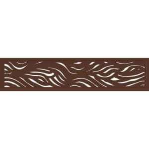72 in. x 16 in. Espresso Stream WPC Framed Decorative Fence Extension and Wall Décor (2-Pack)