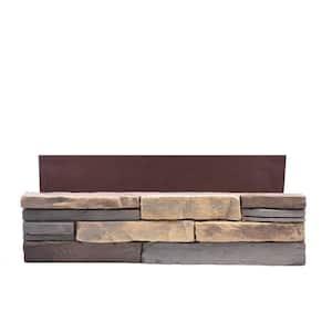 23.5 in. x 6 in. Buckskin Stone Veneer Siding (Flats)