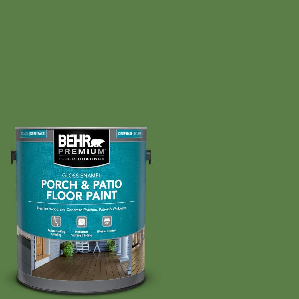 Behr Dynasty 1 Gal S H 430 Mossy Green Semi Gloss Enamel Interior Stain Blocking Paint