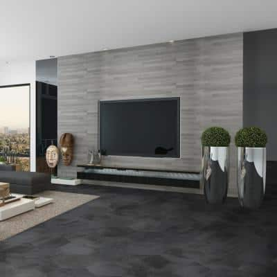 Metro Anthracite Hexagon 14 in. x 16 in. Matte Glazed Porcelain Floor and Wall Tile (10.07 sq. ft. / Case)