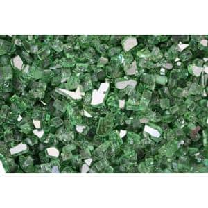 20 lbs. Recycled Fire Pit Fire Glass in Green