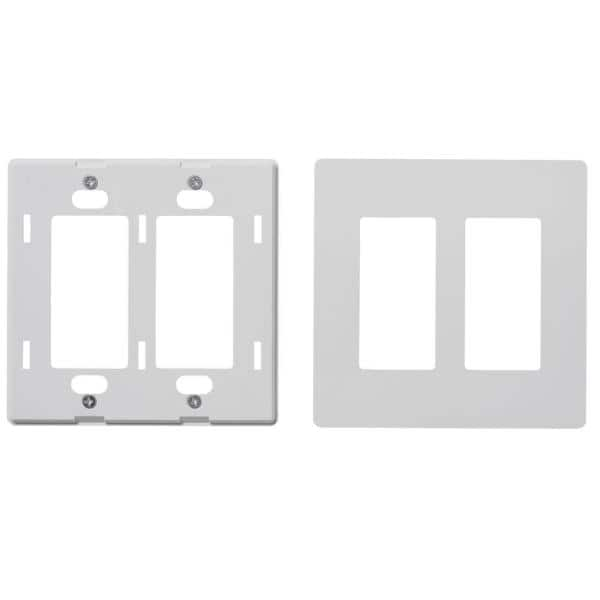 Faith 2 Gang Decorator Screwless Wall Plate Gfci Outlet Rocker Light Switch Cover Two Gang White 10 Pack Swp2 Wh 10 The Home Depot