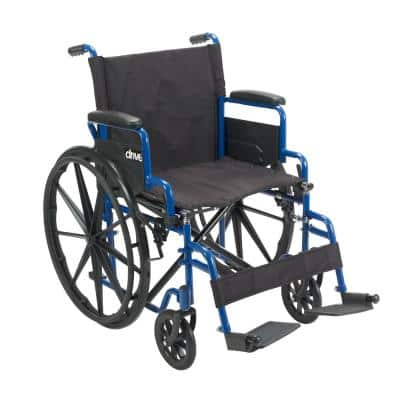 Blue Streak Wheelchair with Flip Back Desk Arms, 16 in. Seat and Swing-Away Footrest