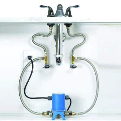 Stainless Steel Hot Water Recirculation System with Check Valve and Under Sink Installation
