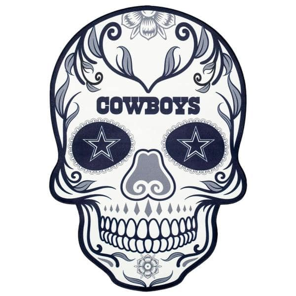 applied icon nfl dallas cowboys outdoor skull graphic- small-nfos0901 - the  home depot  the home depot