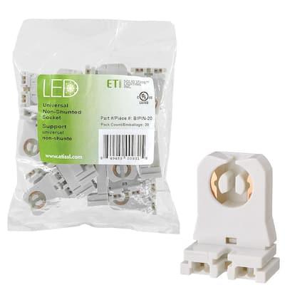 LED Light Bulb Accessory Universal Non-Shunted Socket (20-Pack)