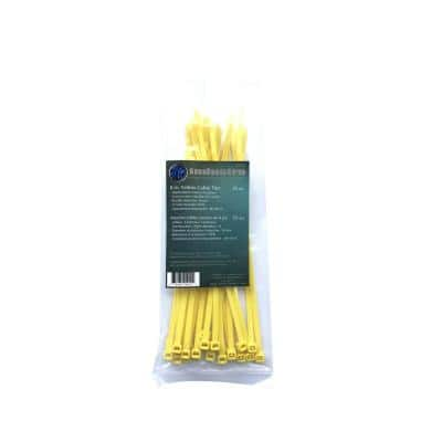 8 in. Yellow Cable Tie (25-Pack)
