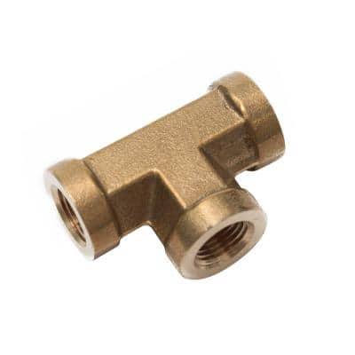 1/8 in. FIP Brass Pipe Tee Fitting (5-Pack)