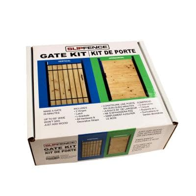 4 ft. x 6 ft. Wood and Aluminum Fence Gate Kit