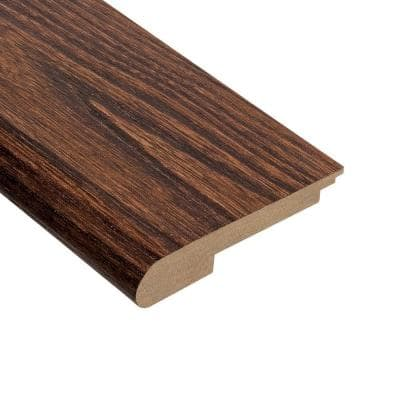 Elm Walnut 3/8 in. Thick x 3-1/2 in. Wide x 78 in. Length Stair Nose Molding
