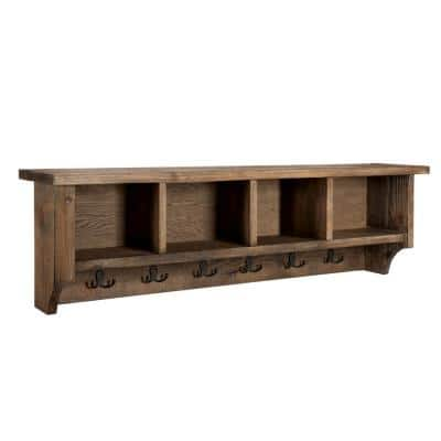 Modesto 48 in. Coat Hooks with Storage in Natural