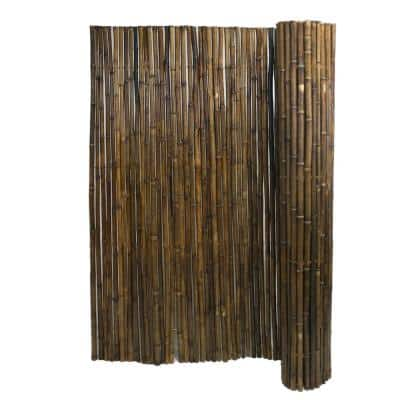 6 ft. H x 8 ft. W x 1 in. D Caramel Brown Bamboo Fence Panel