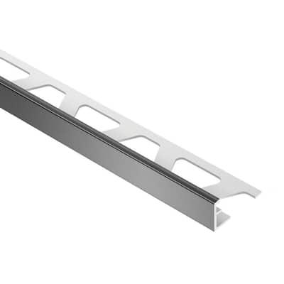 Jolly Black Color-Coated Aluminum 5/16 in. x 8 ft. 2-1/2 in. Metal Tile Edging Trim