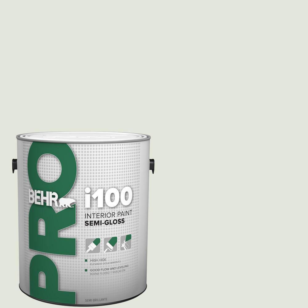 Behr Pro 1 Gal Bl W06 Whispering Waterfall Semi Gloss Interior Paint Pr17001 The Home Depot