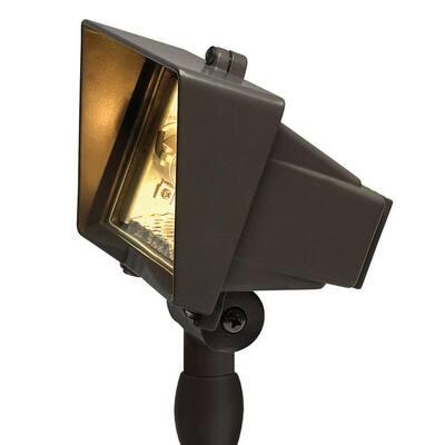 120-Volt Line-Voltage Bronze Flood Light