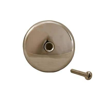 1-Hole Bathtub Waste and Overflow Faceplate with Screw in Chrome