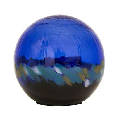 7 in. Art Glass Solar Gazing Ball, Alyssa