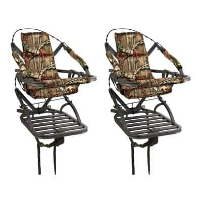 Goliath SD Self Climbing Treestand for Bow and Rifle Deer Hunting (2-Pack)