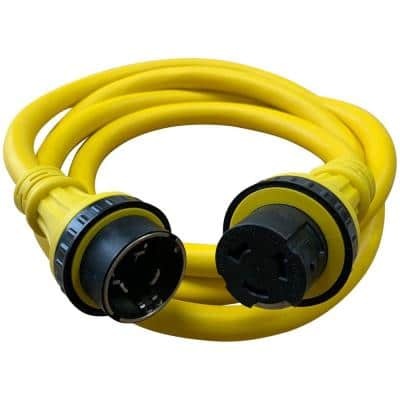 50 ft. 6/4 50 Amp 125/250 Dual Voltage Marine Shore Power Extension Cord