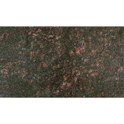 Tan Brown 18 in. x 31 in. Polished Granite Floor and Wall Tile (7.75 sq. ft./case)