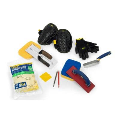 Tile Installation Kit with 1/4 in. x 3/8 in. x 1/4 in. square-notch trowel (10-Piece)