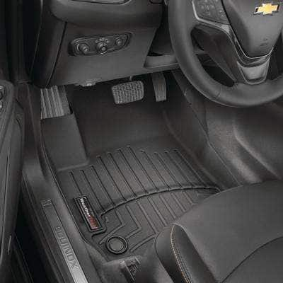 Black/Front FloorLiner/Ford/F-250/F-350/F-450/F-550/2017 +/Fits SuperCab and Crew Cab; fits vechicles no equipped with c