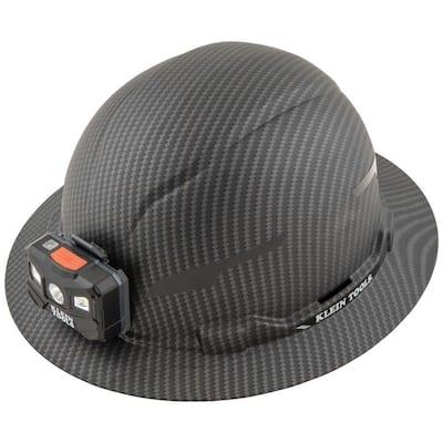 Non-Vented Full Brim Premium KARBN Hard Hat Class E with Headlamp