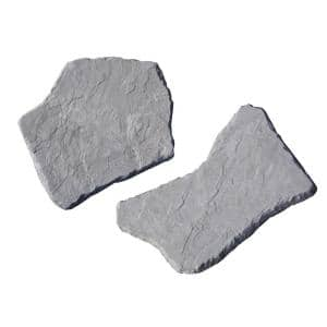 20 in. and 21 in. Irregular Concrete Blue Stepping Stones Kit (20-Piece)